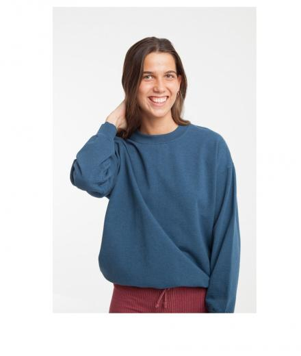 Thinking MU Basic Sweatshirt Blue Melange | S