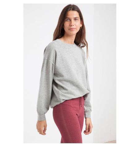 Thinking MU Basic Sweatshirt grey melange | XS
