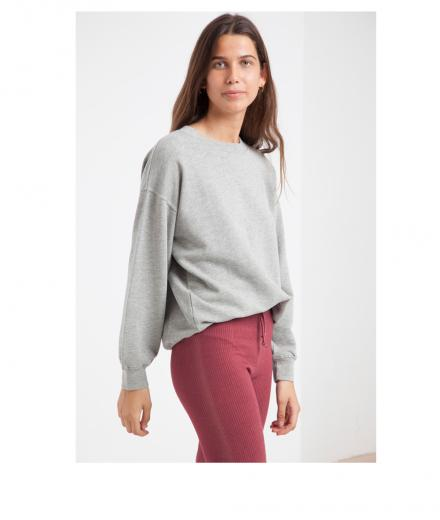 Thinking MU Basic Sweatshirt grey melange | L