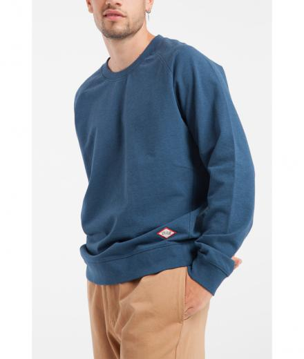 Thinking Mu Blue Melange Basic Sweatshirt