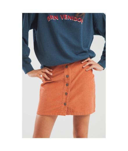 Thinking MU Corduroy Short Skirt  sunburn | M