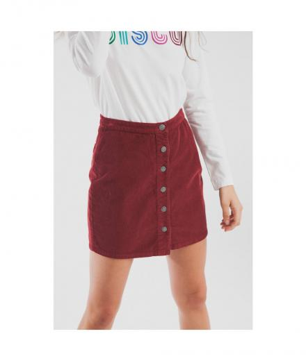 Thinking MU Corduroy Short Skirt  cabernet | L