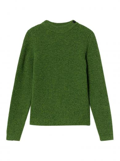 Thinking MU Hera Knitted Sweater green