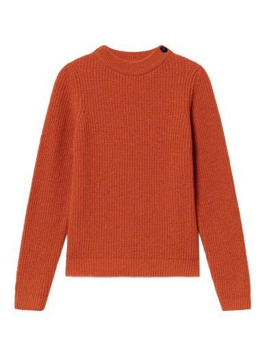 Thinking MU Hera Knitted Sweater orange