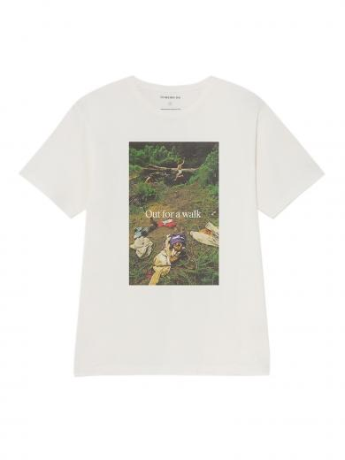 Thinking MU Out For A Walk T-Shirt white