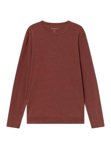 Thinking MU Hemp Shiva L/S T-Shirt raspberry | S