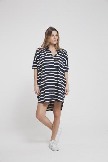 Thinking MU Aquarela Stripes Dress Shirt