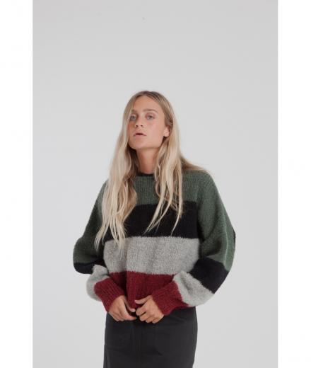 Thinking MU Green Knitted Sweater