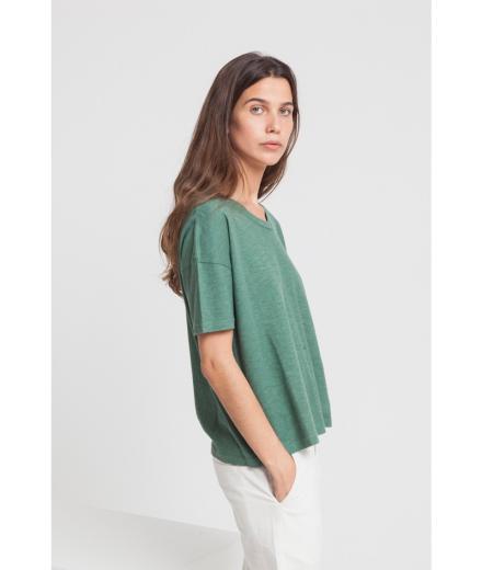 Thinking MU Hemp Ivy T-Shirt green forest | M