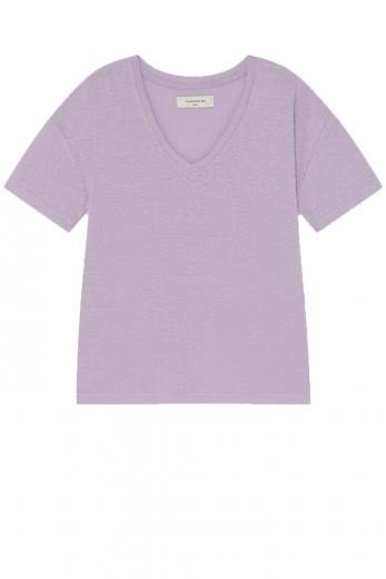 Thinking MU Hemp Chloe T-Shirt mauve