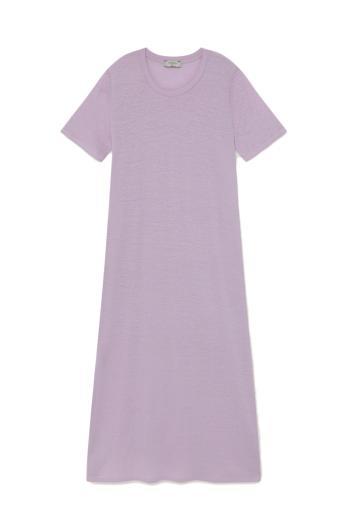 Thinking MU Hemp Oueme Dress mauve | XS