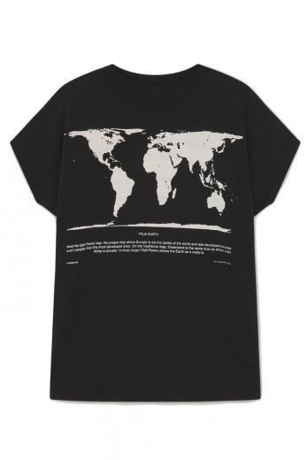 Thinking MU Peter's Map Volta T-Shirt Black | S