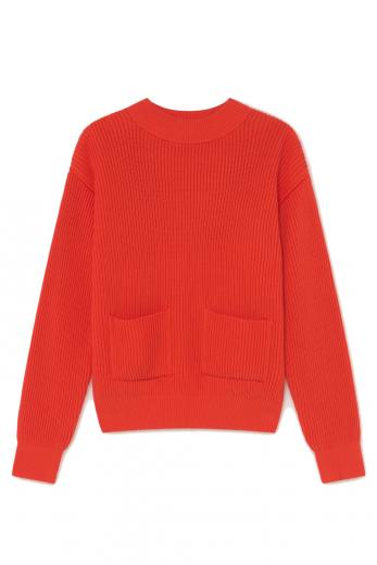 Thinking MU Faleme Knitted Sweater scarlet