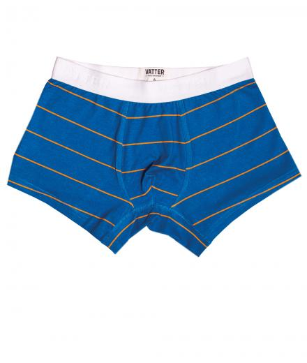 VATTER Trunk Short Tight Tim Blue/Orange Stripes M