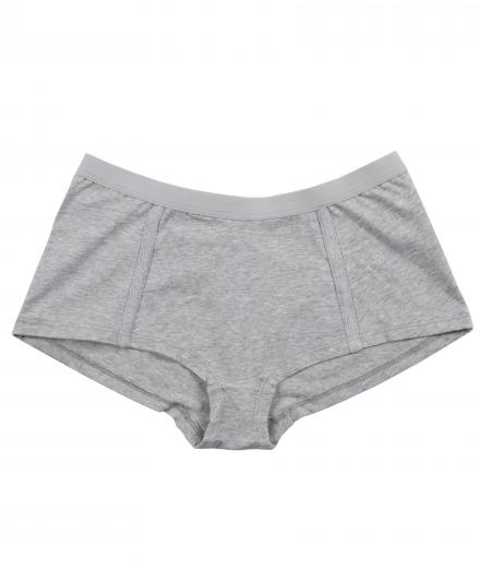VATTER Boy Short Easy Emma grey melange S