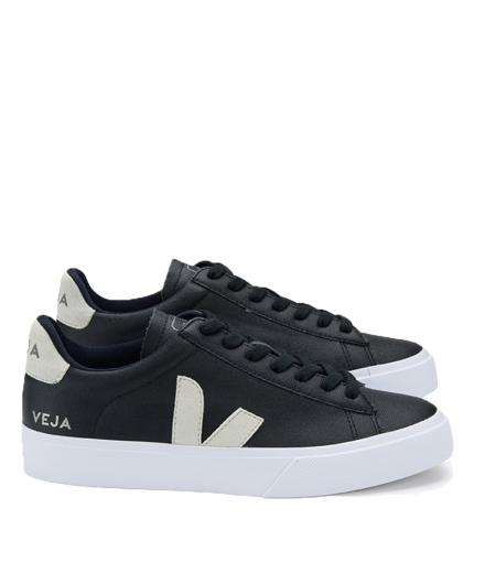 VEJA Campo Chromefree Leather Black Natural 46