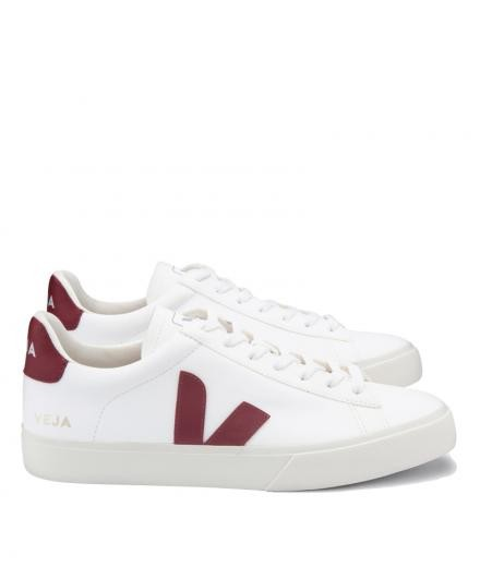 VEJA Campo Chromefree Leather White Marsala 38