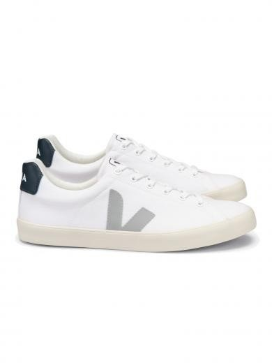 VEJA Esplar Se Canvas White Oxford-Grey Nautico