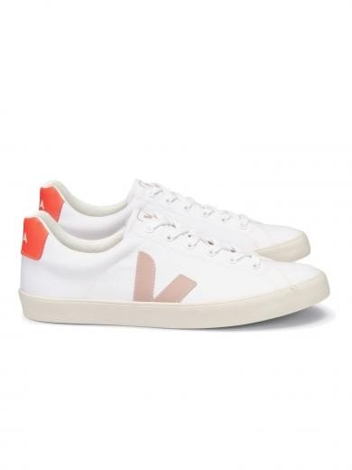 VEJA Esplar Se Canvas White Babe Orange-Fluo