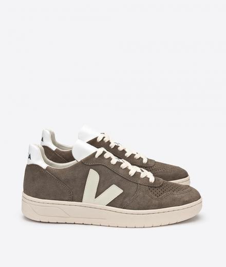 VEJA V10 Suede Black Grafite Oxford Grey | 44