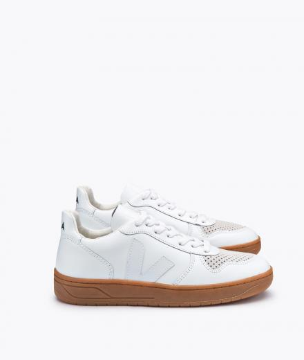 VEJA V10 Leather Extra White Natural Sole white | 44