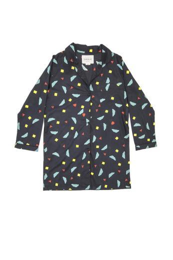 Thinking MU Calder Long Shirt blue total ecplise | M