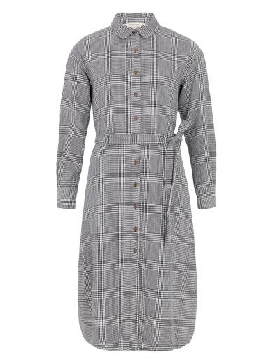 People Tree Asta Checked Shirt Dress checked