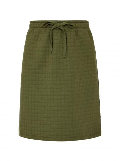 People Tree Lia Quilted Skirt khaki