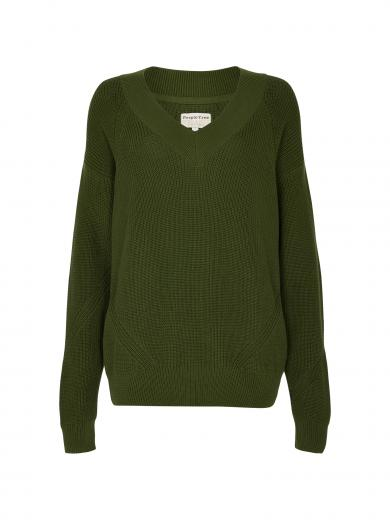 People Tree Anneliese V-Neck Jumper