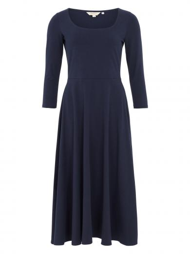 People Tree Valencia Flared Dress navy