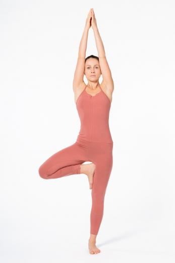 YOIQI Jumpsuit Tight Cross Canyon Rose | M
