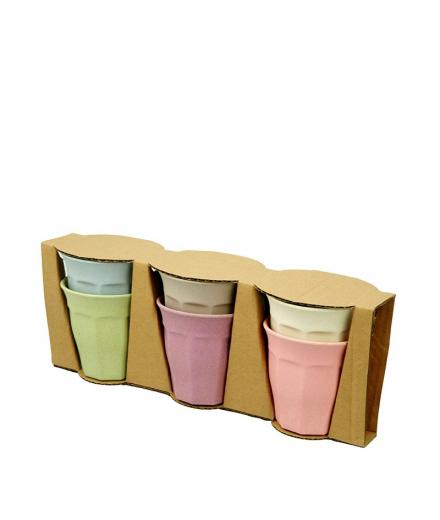 zuperzozial Cupful of Colour Large Cups set/6 DWN