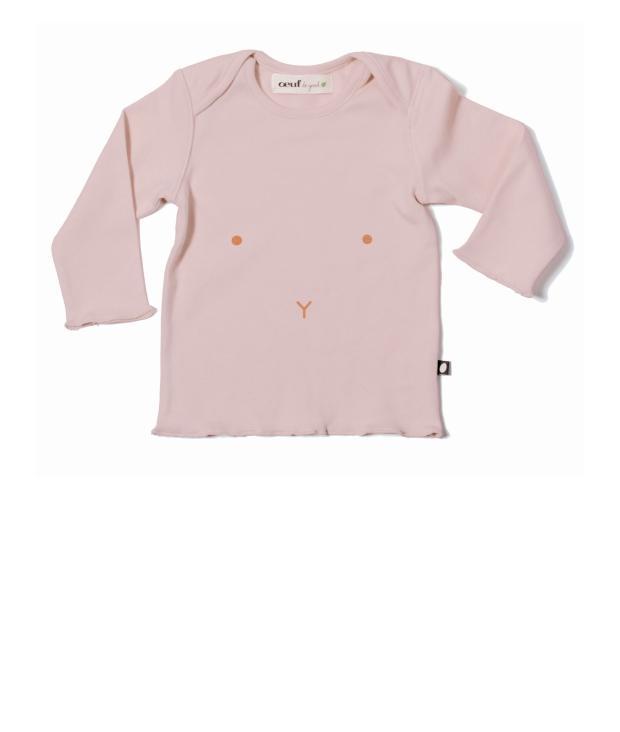 Oeuf Long Sleeve Tee 12M pink