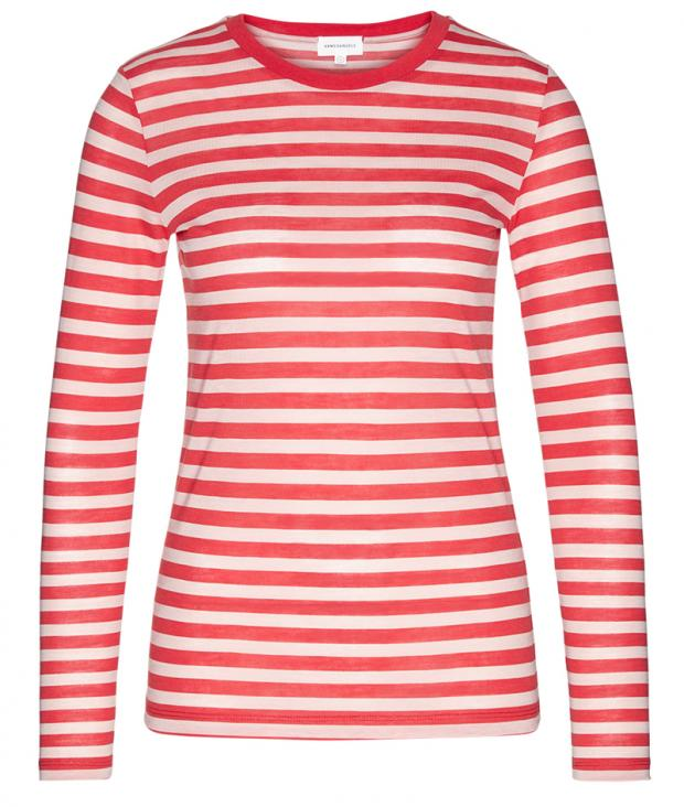 Laraa Bold Stripes tomato red from Glore