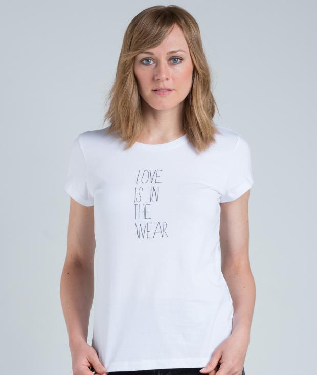 eyd T-Shirt Love is in the wear white M