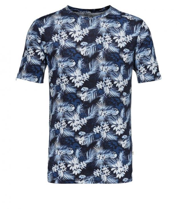 Linen t-shirt with all over print from Glore