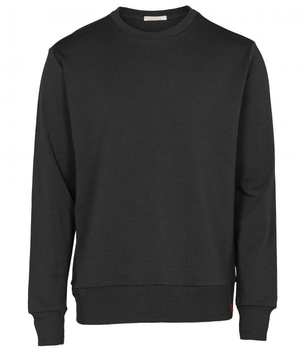 Knowledge Cotton Apparel Merino Sweat Dark Grey Melange | XL | glore