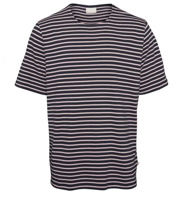 T-Shirt Striped - Heavy Short Sleeve Pink Nectar from Glore