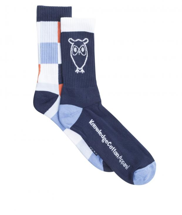 Tennis Check Sock 2-Pack Total Eclipse from Glore