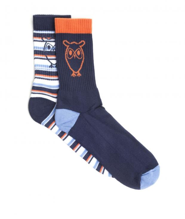 Tennis Striped Sock 2-Pack Total Eclipse from Glore