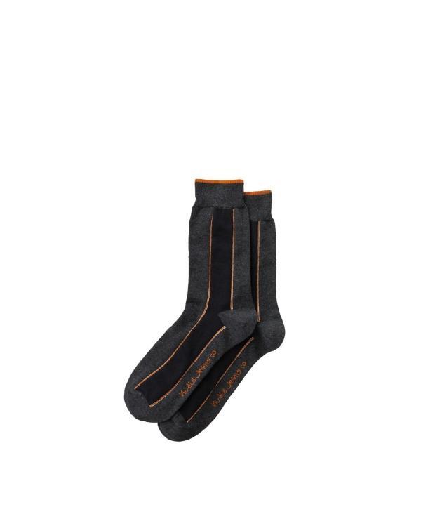 NUDIE JEANS Olsson Selvage Socks onesize Dark Grey