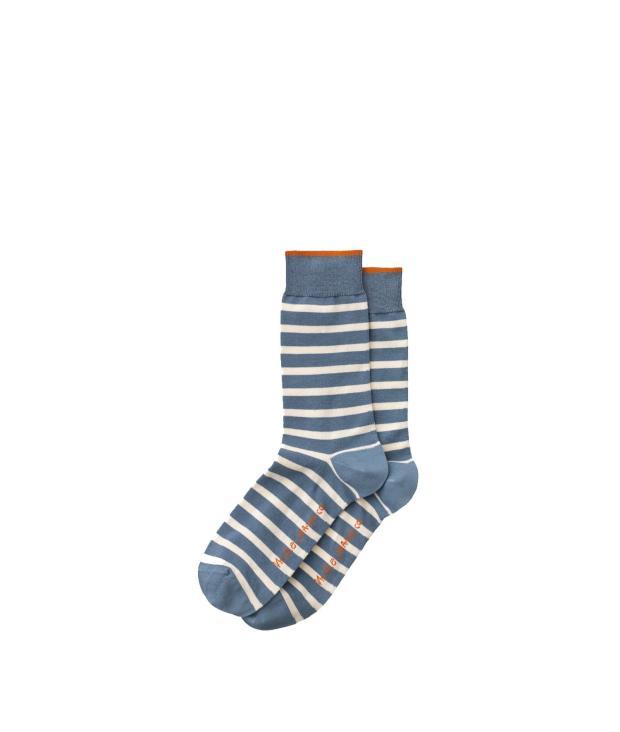 Nudie Jeans Olsson French Stripe Socks onesize blue metal