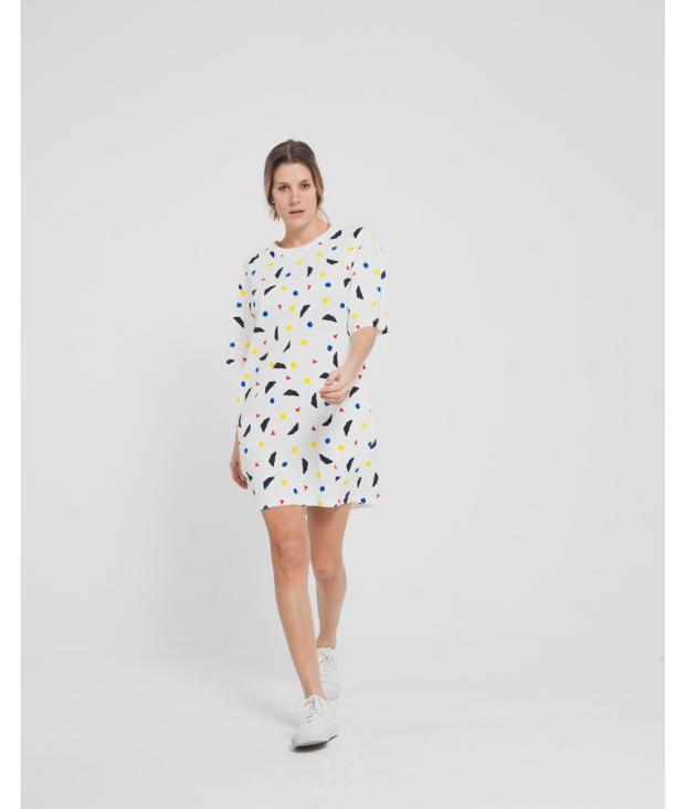 Calder Tee Dress Snow White from Glore