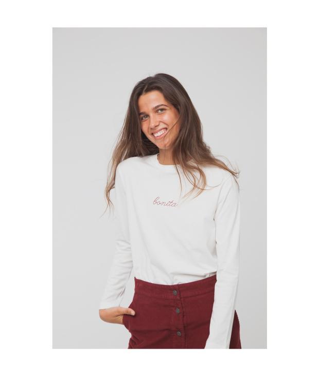 Bonita Embroidery T-Shirt Snow White from Glore