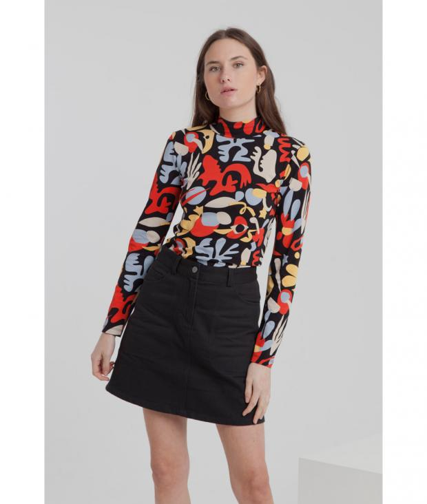 Dancing in the Space Turtleneck Top M from Glore