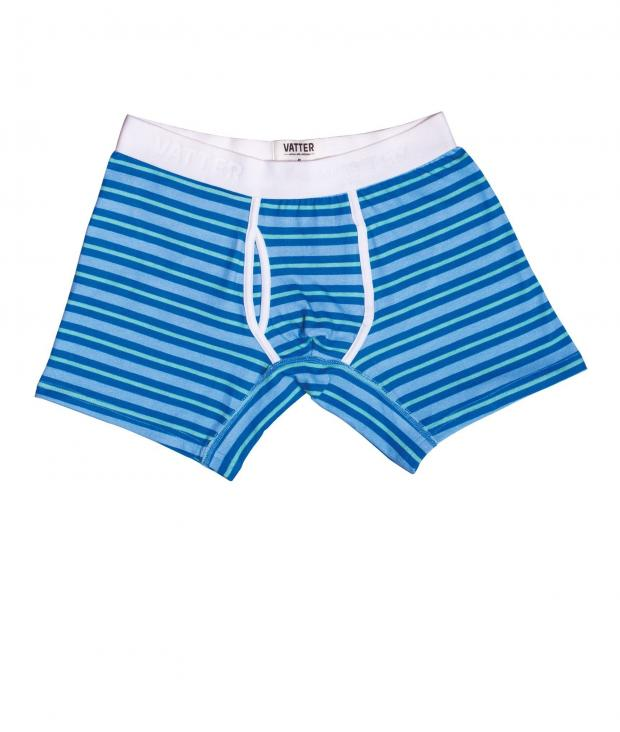 Boxer Brief Classy Claus blue/mint stripes from Glore