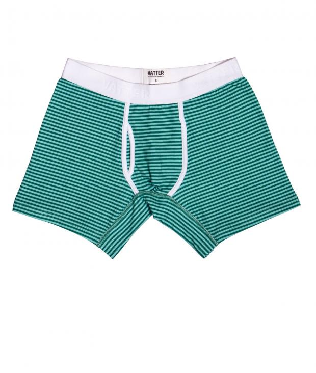 Boxer Brief Classy Claus mint/green stripes from Glore