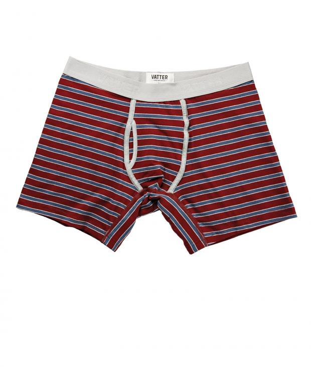 Boxer Brief Classy Claus red/blue/grey stripes from Glore