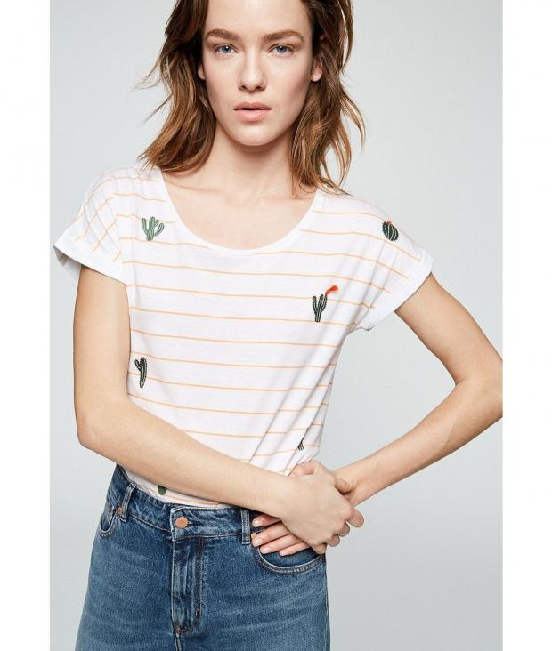 Livaa Cactus on Stripes white-sweet peach from Glore