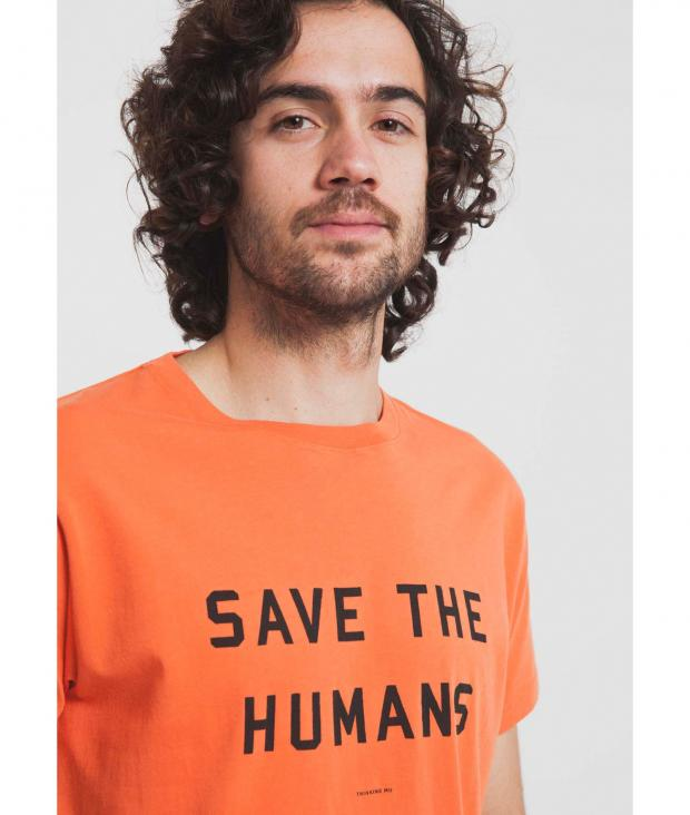 Save The Humans Tee tigerlily from Glore